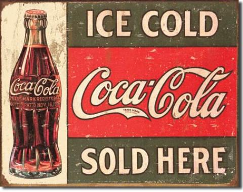 Tin Sign, COKE - c.1916 Ice Cold