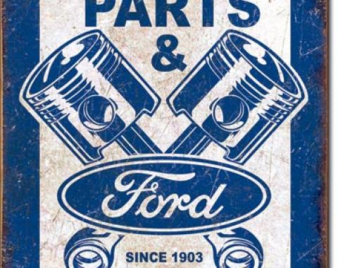 Tin Sign, Ford Service - Pistons