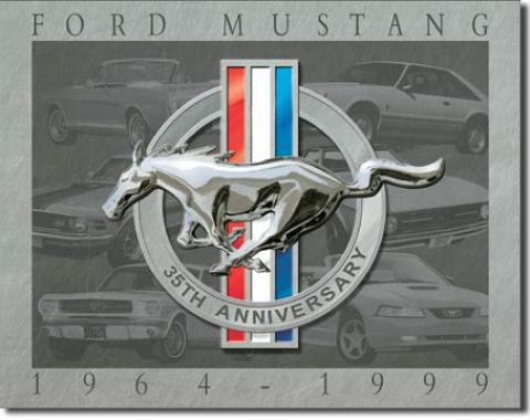Tin Sign, Mustang - 35th Anniversary
