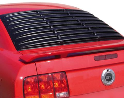 Mustang Rear Window Louver, Custom Painted, Smooth, 2005-2014