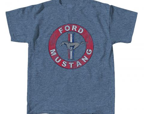 Mustang Circle T-Shirt, Denim Blue