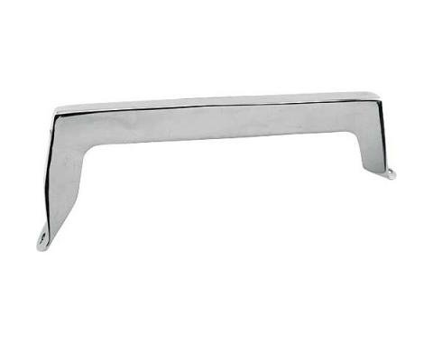 Ford Mustang Console Front End Cap - Die Cast Zinc With Chrome Finish - For Cars With Air Conditioning