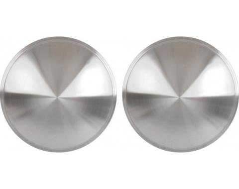 "Wheel Cover Set Of Two, Full 'Moon' Style, Brushed AluminumLook Stainless, For 13"" Steel Wheels"