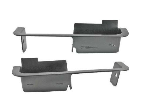 Ford Mustang Door Panel Arm Rest Cups - Black - Short Style- For Deluxe Interior