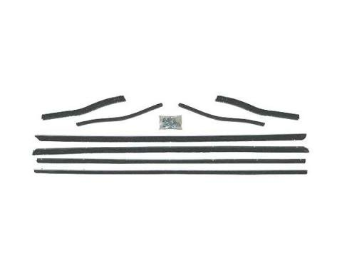 Ford Mustang Belt Weatherstrip Kit - 8 Pieces - Inner & Outer - Coupe & Convertible - Door Windows & Rear Quarters