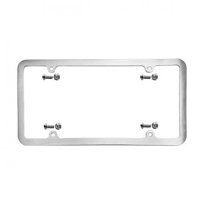 Custom License Plate Frame - Brushed Aluminum