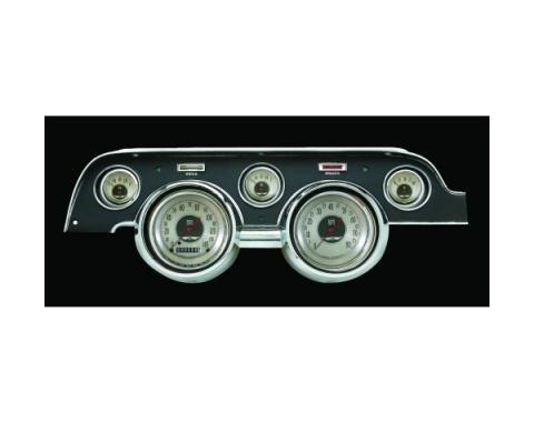 Mustang Classic Instruments® 5-Gauge Set, American NickelStyle, Includes Dash Bezel, 1967-1968