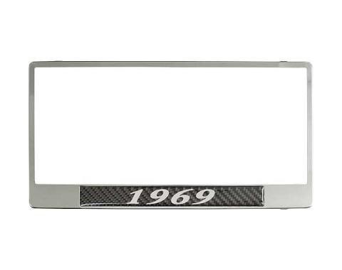 License Plate Frame - 1969