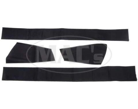 Ford Mustang Convertible Top Pads - Black