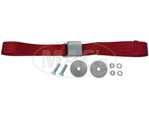 """Seatbelt Solutions Universal Lap Belt, 60"""" with Chrome Lift Latch 1800602007 