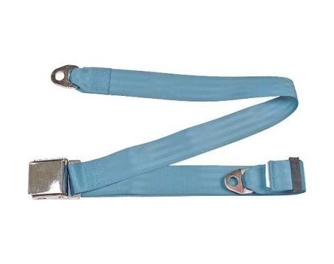 "Seatbelt Solutions Universal Lap Belt, 74"" with Chrome Lift Latch 1800744005 | Powder Blue"