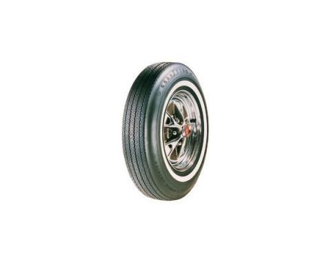 Tire - 695 x 14 - 7/8 Whitewall - Goodyear Power Cushion