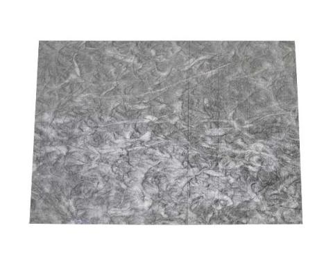 Hood Insulation - One Piece - 48 x 65 - Cut To Fit - Gray/Black