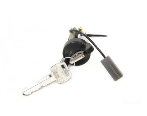 Ford Mustang Ignition Lock Cylinder w/ 2 Keys, Black 1979-93