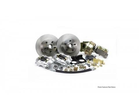 Ford Mustang - Legend Series Front Disc Brake Conversion Kit With Drilled And Slotted Rotors, Power, V8, 1971-1973