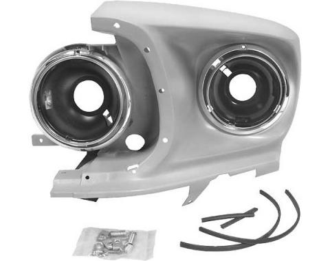 Ford Mustang Headlight Assembly - Left - Reproduction - AllModels Except Shelby GT350 Or GT500