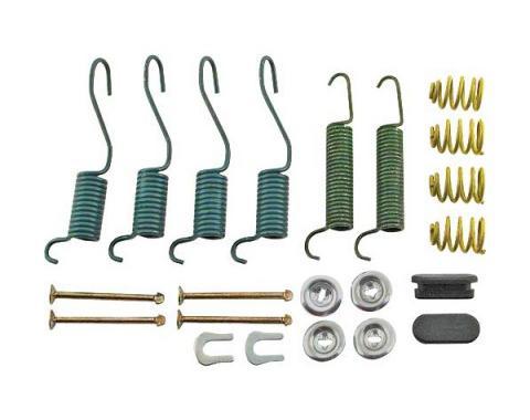 Ford Mustang Drum Brake Hardware Kit - Rear - 9 x 1-1/2 Brakes - 6 Cylinder Except Convertible