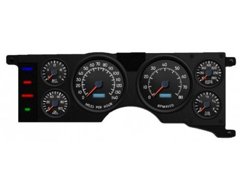 Mustang - New Vintage USA Aviator Series Kit - 6 Gauge Package, 1979-1986 - Programmmable Speedometer MPH