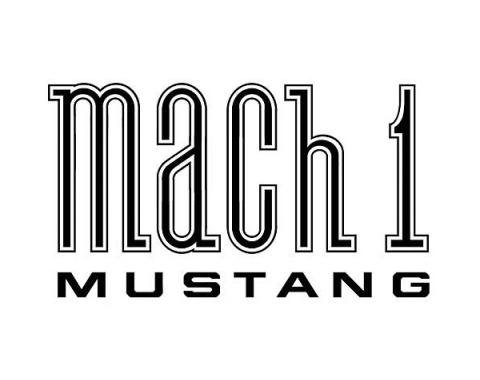 Ford Mustang Mach 1 Fender Decal - Black