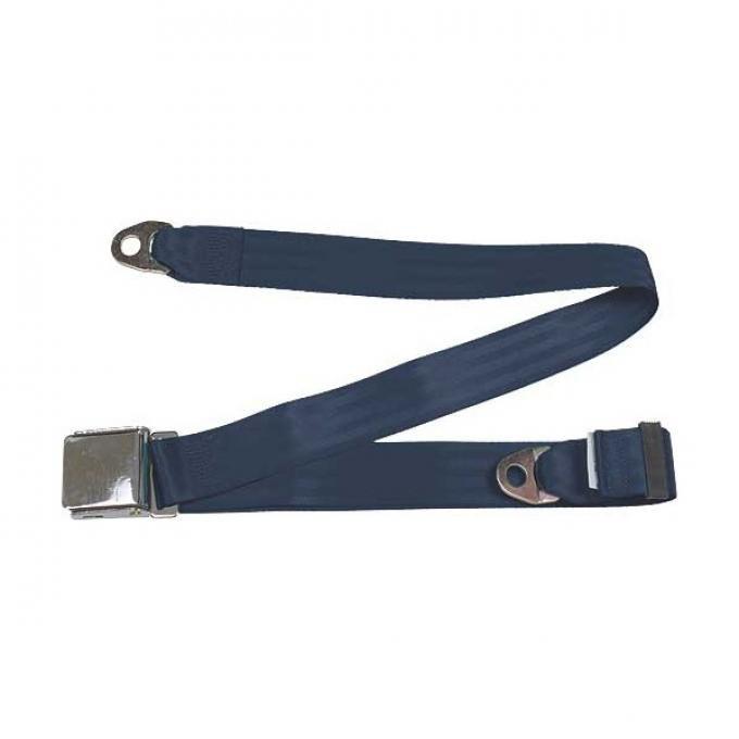 "Seatbelt Solutions Universal Lap Belt, 74"" with Chrome Lift Latch 1800744004 | Dark Blue"