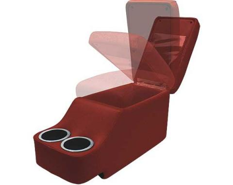 Ford Mustang Humphugger Console - Coupe & Fastback - Dark Red
