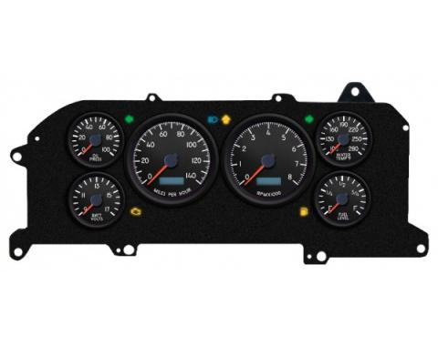 Mustang - New Vintage USA Aviator Series Kit - 6 Gauge Package, 1987-1993 - Programmmable Speedometer MPH