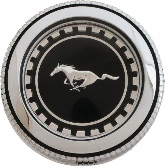 Ford Mustang Gas Cap - Chrome - Vented - Without Security Cable - Standard Models