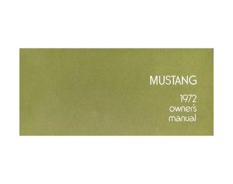 Mustang Owner's Manual - 56 Pages