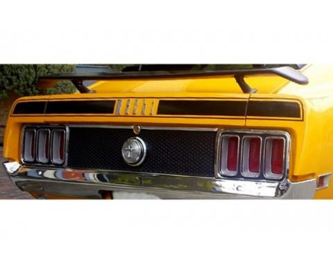 Ford Mustang Trunk Lid Stripe Kit - Mach 1 - 3 Pieces - Black