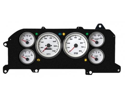 Mustang - New Vintage USA Performance Series Kit - 6 Gauge Package, White Dial - 1987-1993 - Mechanical Speedometer MPH