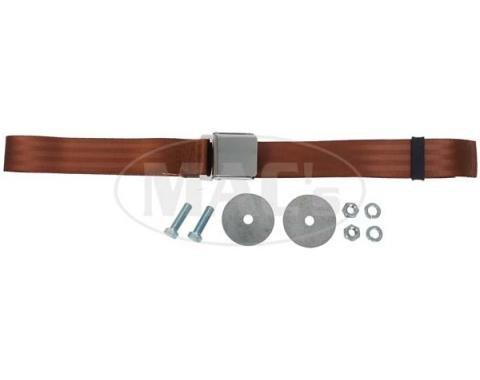 "Seatbelt Solutions Universal Lap Belt, 74"" with Chrome Lift Latch 1800743004 | Copper"