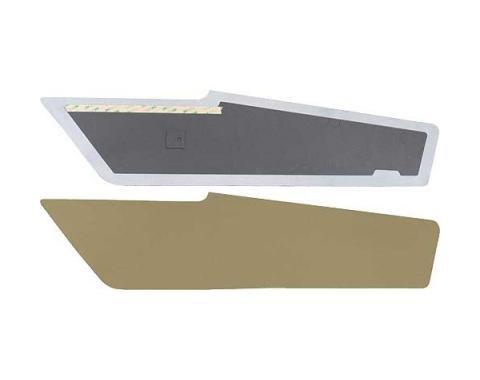 Ford Mustang Sail Panels - Tan Tier Grain Vinyl - Fastback