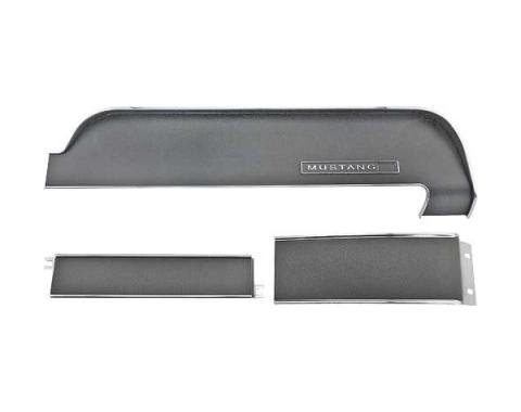 Ford Mustang Dash Trim Panel Set - 3 Pieces - For Standard Interior - Without Air Conditioning
