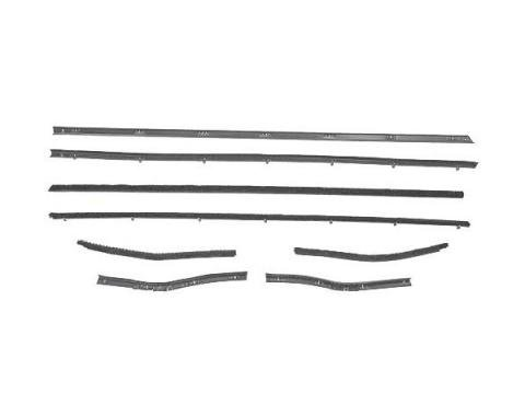 Ford Mustang Belt Weatherstrip Kit - 8 Pieces - Inner & Outer - Coupe - Door Windows & Rear Quarters