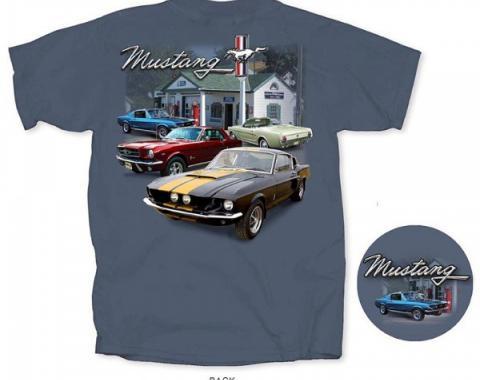 Mustang Ford Service T-Shirt, Indigo
