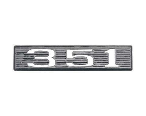 Daniel Carpenter Ford Mustang Hood Scoop Number Plate - 351 C9ZZ-16637-351-P