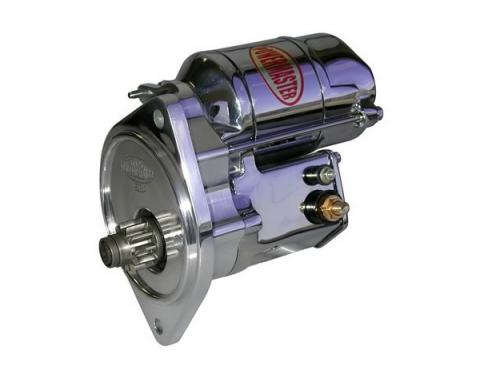 High-Torque - 200 Ft. Lb. - Starter, XS Torque, Chrome, 77-79 Ford V8 Engines with 5-Speed Manual Transmission