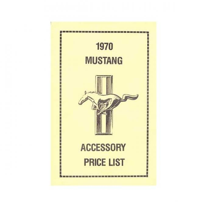 Ford Mustang New Car Accessory Price List