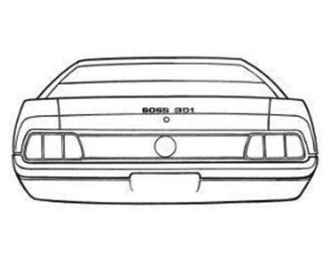 Ford Mustang Trunk Lid Stripe Kit - Boss 351 - 3 Pieces - Argent Silver-Gray