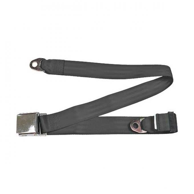"Seatbelt Solutions Universal Lap Belt, 74"" with Chrome Lift Latch 1800746009 