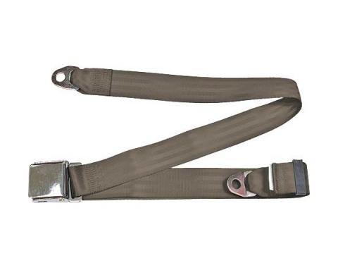 "Seatbelt Solutions Universal Lap Belt, 74"" with Chrome Lift Latch 1800743008 | Medium Beige"