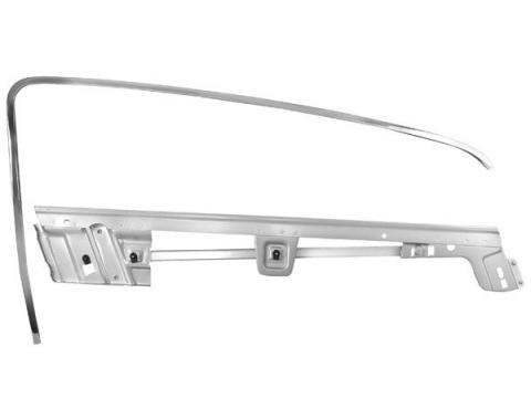 Door Glass Frame Kit / Right / Fastback