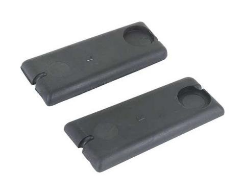 Daniel Carpenter Ford Mustang Deluxe Door Panel Arm Rest Cup Pad - Black - Short Style D0ZZ-6524046-BK