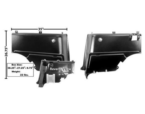 Qtr Panel Trims / Fastback / L & R / Lower / Plastic
