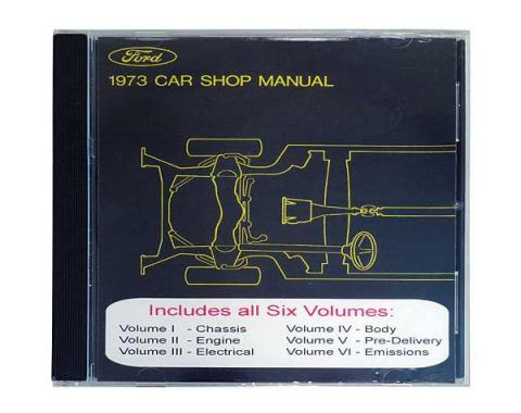 1973 Ford and Mercury Car Shop Manual CD - For Windows Operating Systems Only