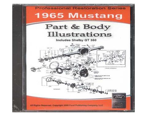 1965 Mustang Part & Body Illustrations On CD - For Windows Operating Systems Only