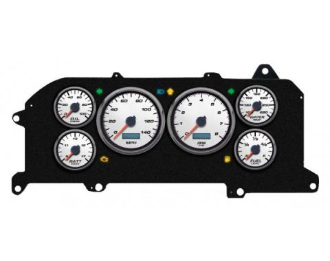 Mustang - New Vintage USA Performance ll Series Kit - 6 Gauge Package, White Dial - 1987-1993 - Programmmable Speedometer MPH