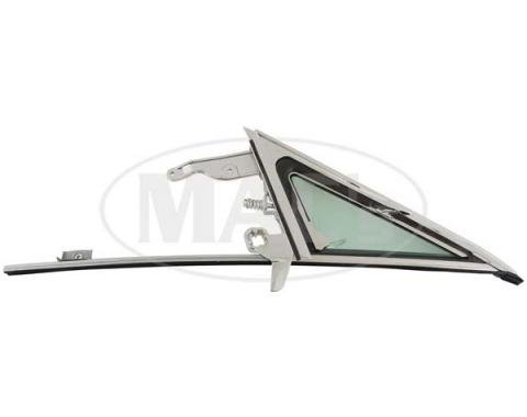 Ford Mustang Vent Window Assembly Kit - Left - Tinted Glass