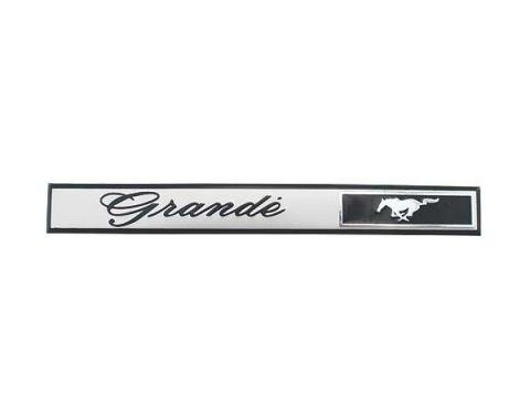 Daniel Carpenter Ford Mustang Dash Panel Emblem Insert - Grande - Peel & Stick Type - Body Styles 65E & 65F C9ZZ-6304460-GI