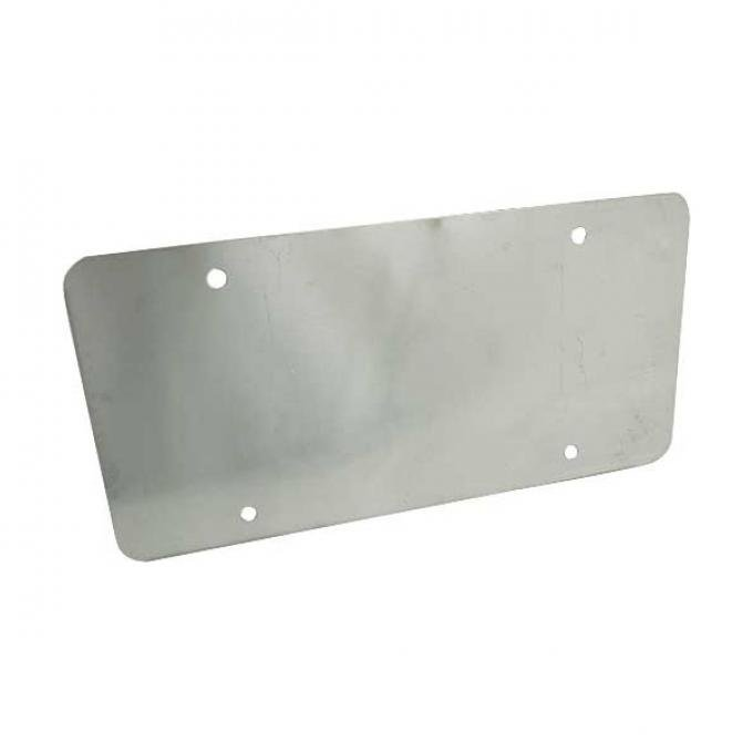 License Plate Backing Cover - Plain - Stainless Steel